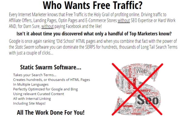 OTP Static Swarm Mass Page Traffic Generator Software by